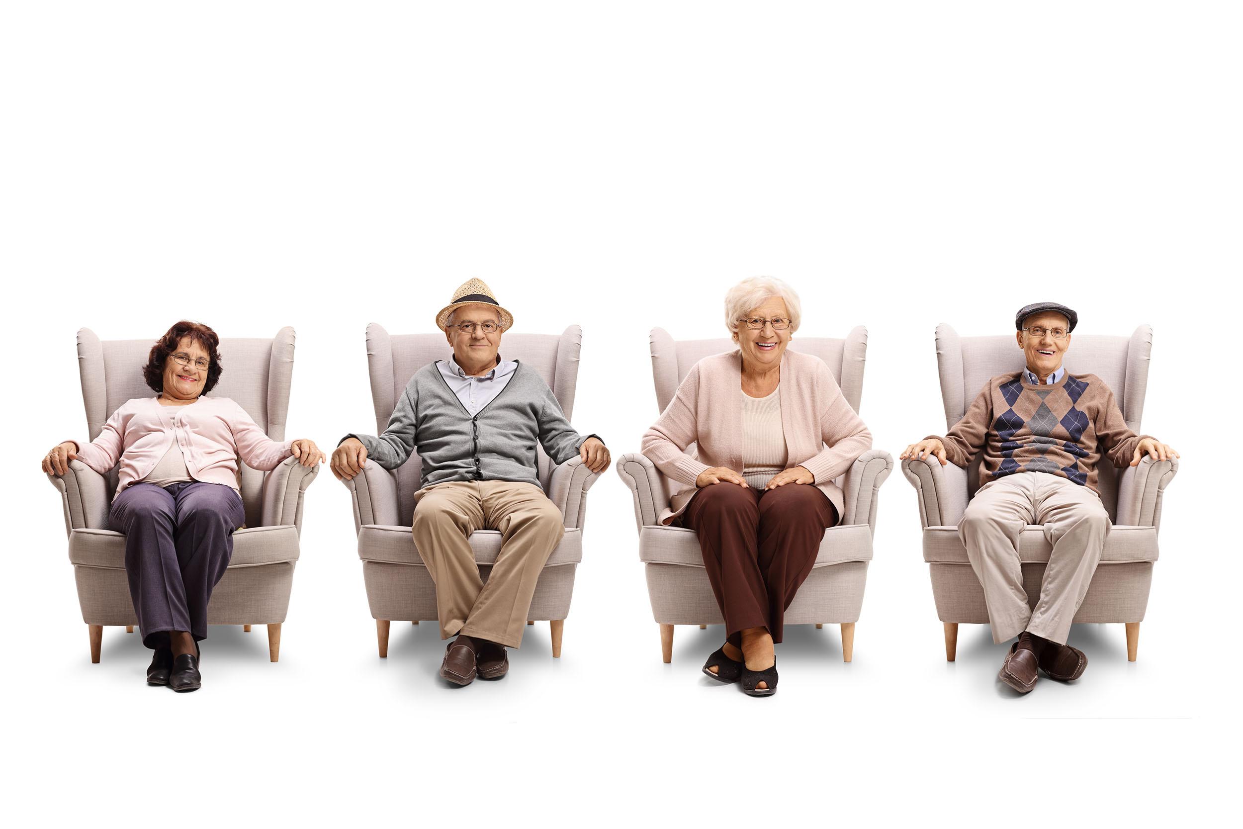 Senioren im Sessel